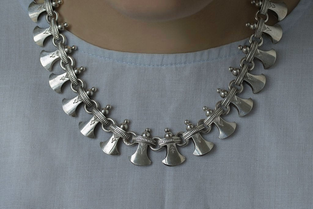 Victorian Sterling Silver Collar Necklace