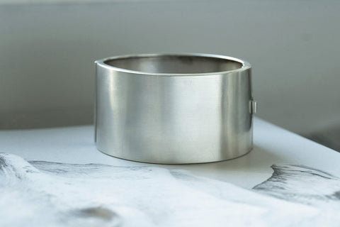 Victorian Sterling Silver Wide Bangle