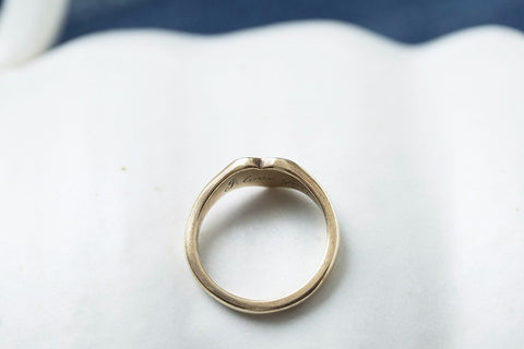 Antique Heart Gold Signet Ring