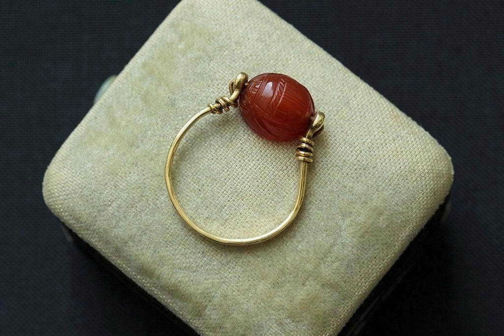 Victorian Egyptian Revival Scarab Swivel Ring II