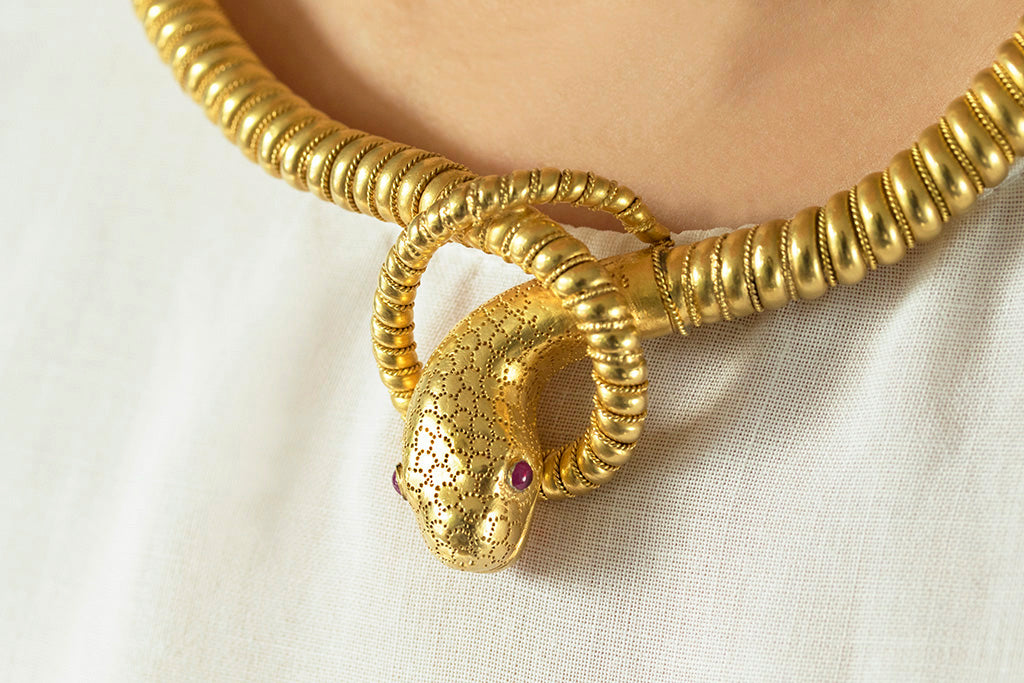 Victorian Snake Necklace