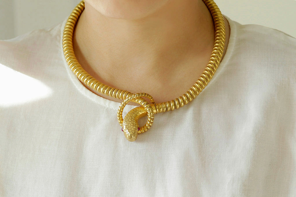 Victorian Snake Collar Necklace