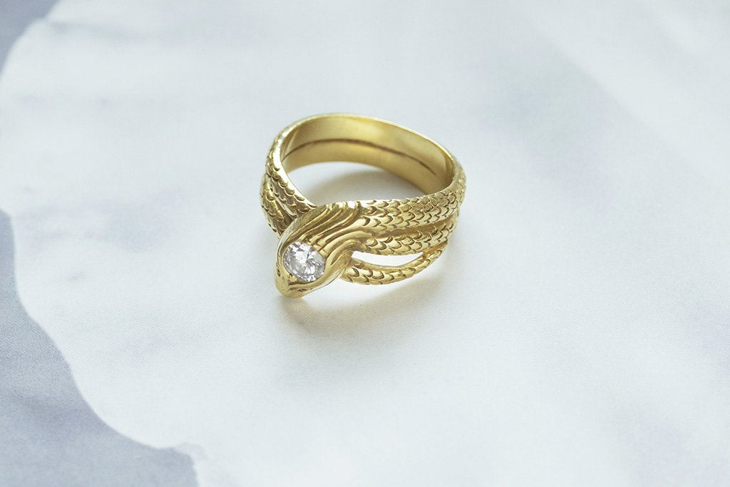 Late 19th Century Diamond Serpent Ring
