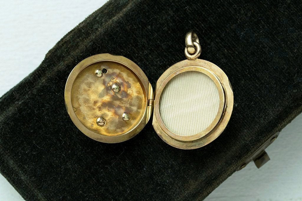 Victorian Snake Locket with Diamond