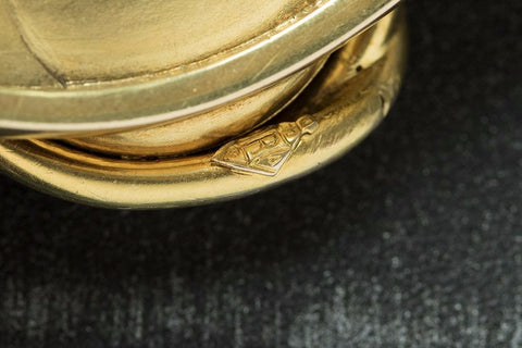 Victorian Snake Locket Gold Bangle