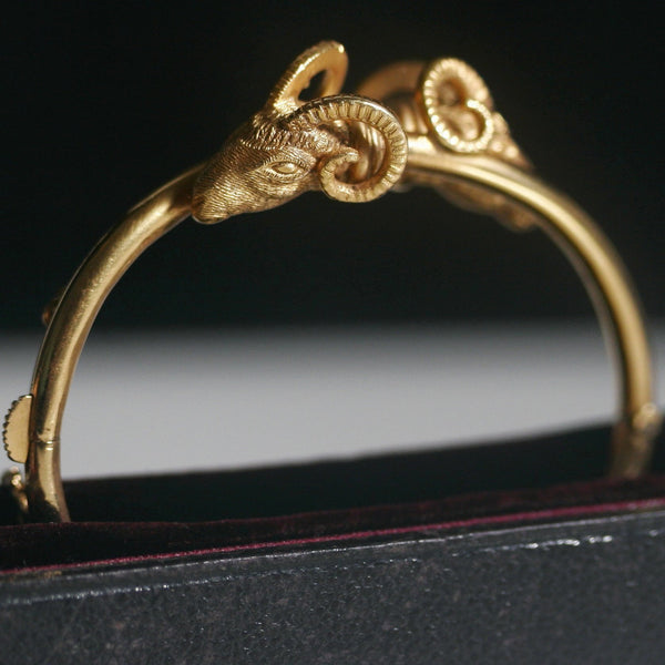 Victorian Aries Gold Bangle