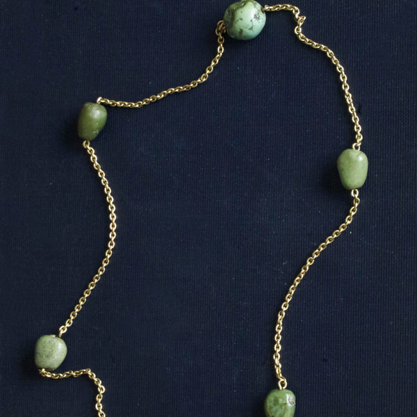 Edwardian Turquoise Nugget Necklace