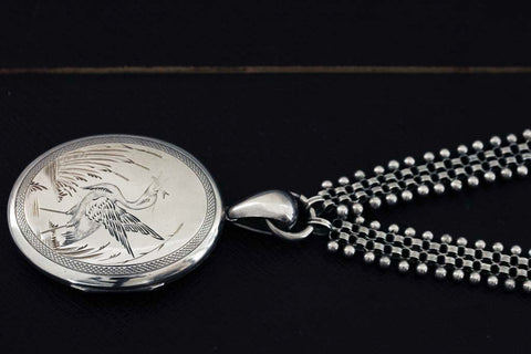 Victorian Sterling Silver Oversized Locket