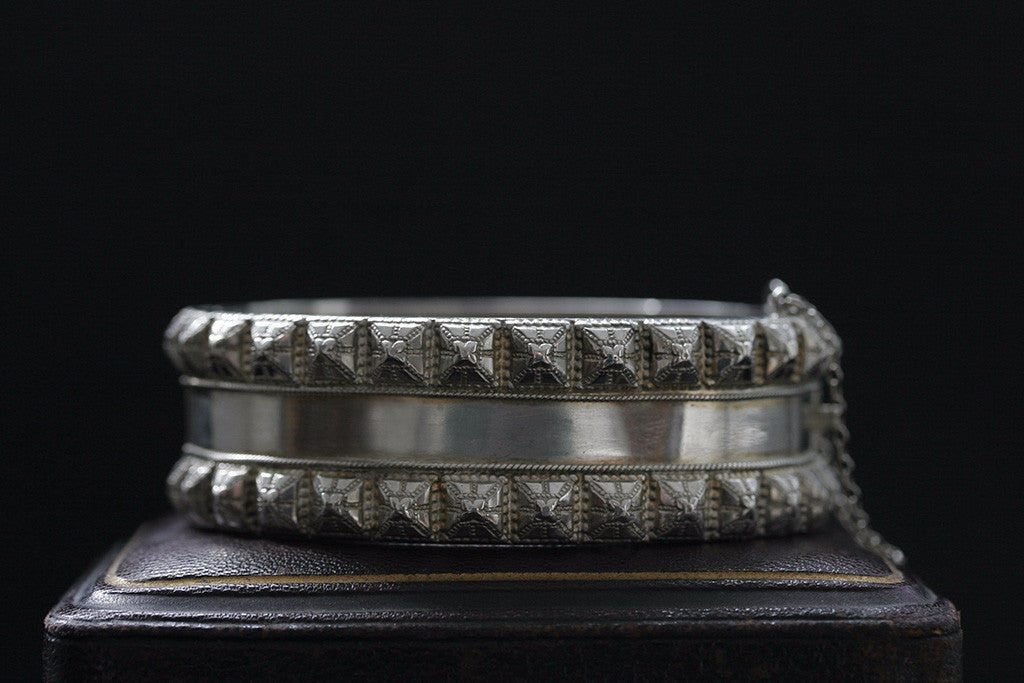 Victorian Sterling Studded Bangle