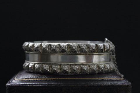 Late Victorian Sterling Studded Bangle