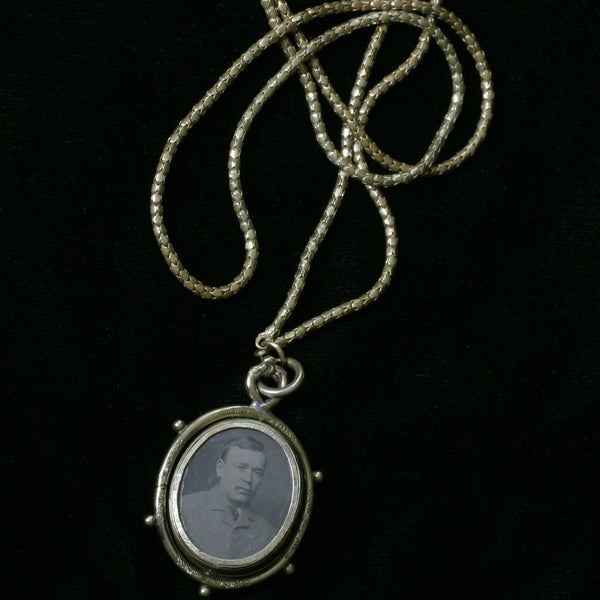 Victorian Swivel Locket & Long Chain