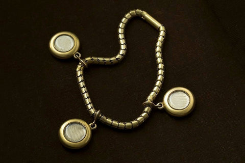 Mid Victorian Three Locket Rope Bracelet