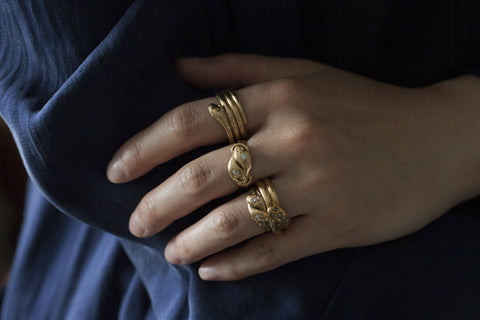 Late Victorian Snake Ring