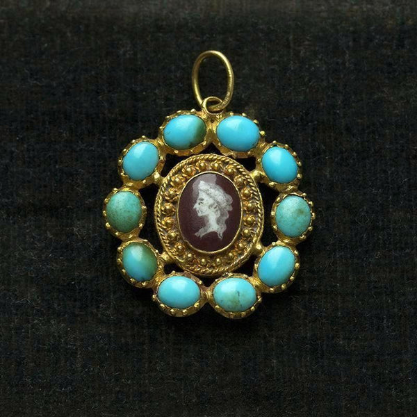 Late 18th Century Turquoise and Enamel Camel Pendant