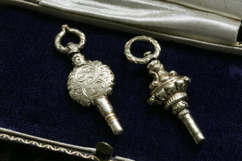 Pair of Georgian Gold Watch Key Fobs