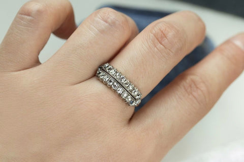 Early Victorian Double Row Diamond Ring