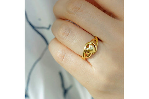 Victorian Love Knot Heart Ring