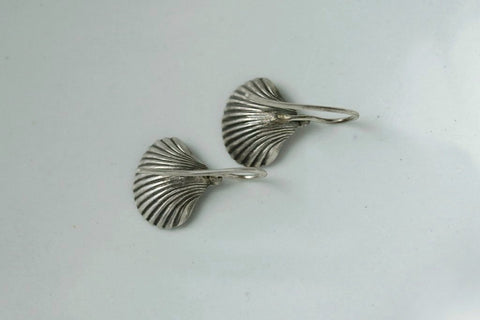 Victorian Sterling Silver Shell Earrings