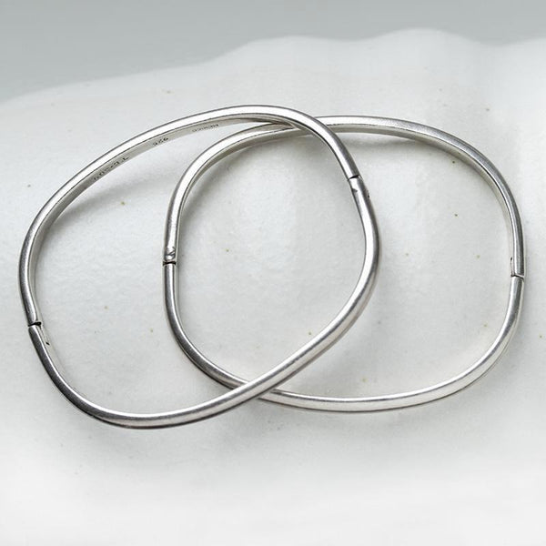 Pair of Vintage Sterling Silver Bangles