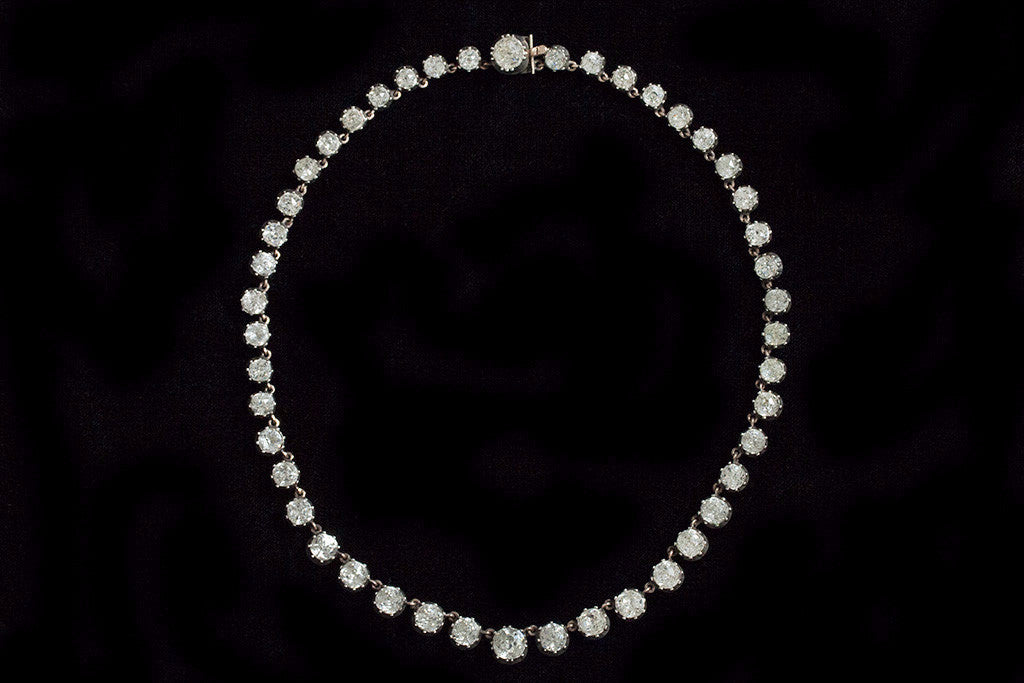 Victorian White Paste Rivière Necklace
