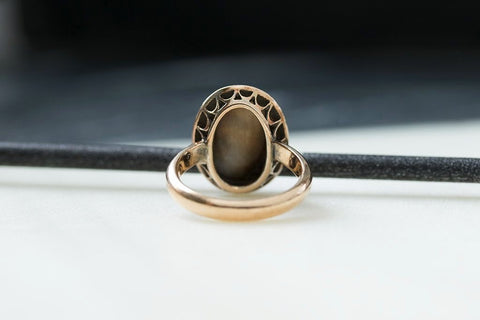 Antique Carved Sardonyx 'Love Token' Ring