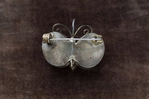 Yellow Jade Wing Butterfly Brooch