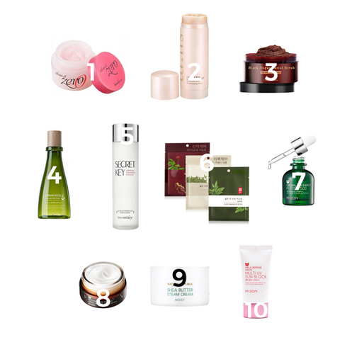 10-Step Korean Routine Starter Kit - Combination/Oily Skin
