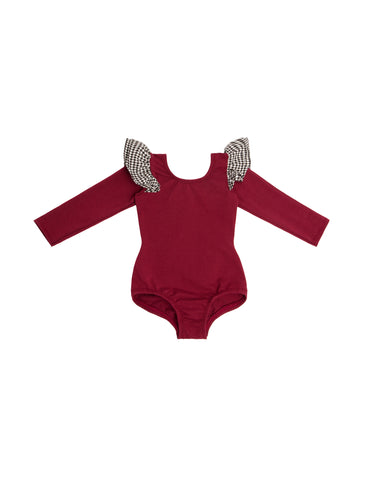 Georgia Wine Long Sleeve Bodysuit