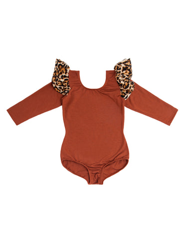 Rowan Rust Long Sleeve Bodysuit