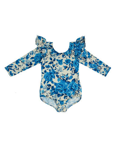 Winter Floral on Floral Long Sleeve Bodysuit