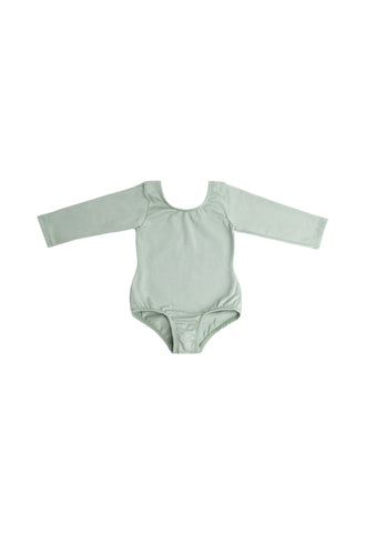 Millie Mint ( NO RUFFLE) Long Sleeve Bodysuit