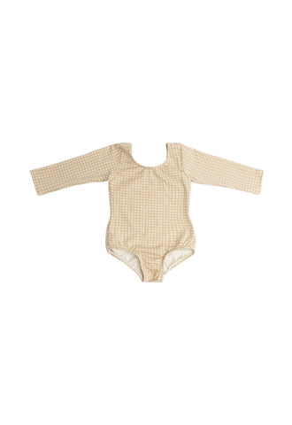 Pearl Polka Dot (no Ruffle) Long Sleeve Bodysuit