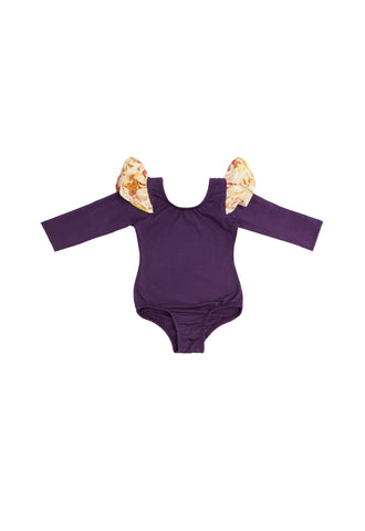 The Royal Poppy Long Sleeve Bodysuit