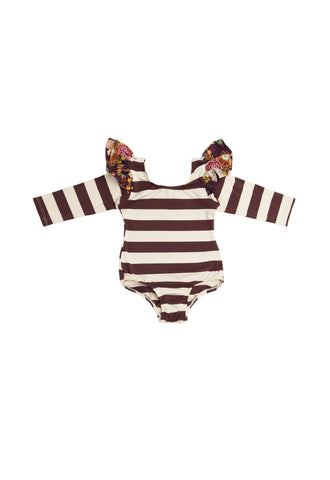 Blondie Burgundy Long Sleeve Bodysuit