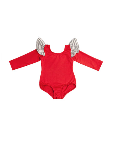 Rooney Red Long Sleeve Bodysuit