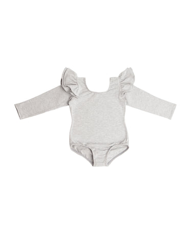 Everyday Grey Long Sleeve Bodysuit