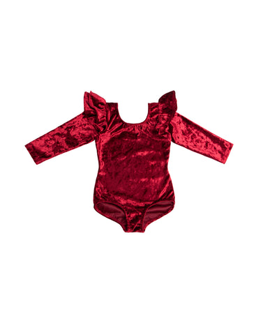 Red Velvet Long Sleeve Bodysuit