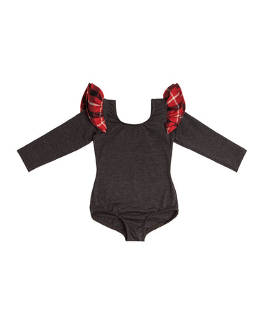 Charlie Charcoal Long Sleeve Bodysuit
