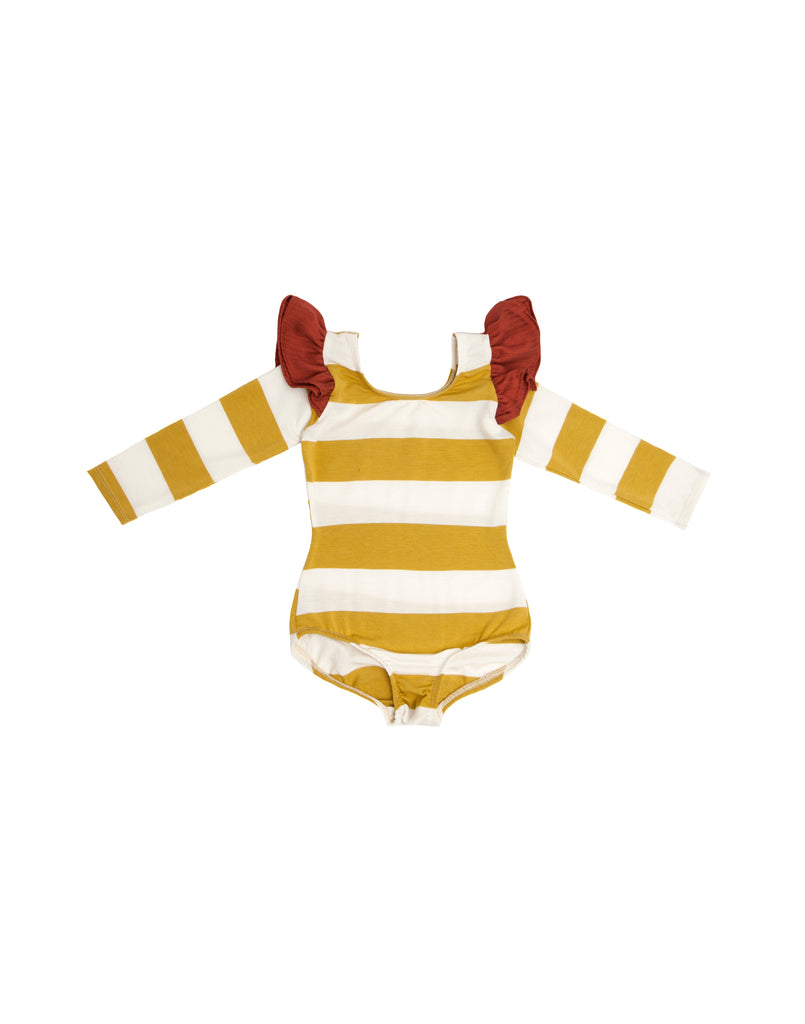 Cici Stripe Long Sleeve Bodysuit