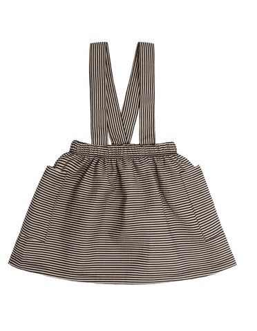 Black Stripe Suspender Skirt