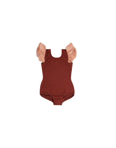 Romy Rust Sleeveless Bodysuit