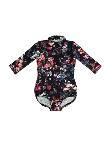 Floral Mock Neck Long Sleeve Bodysuit