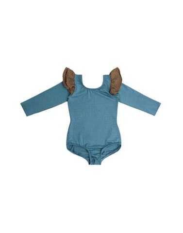 Blanchey Blue Long Sleeve Bodysuit