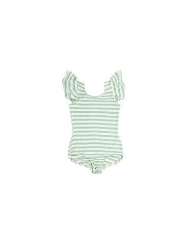 Mint Stripe Sleeveless Suit