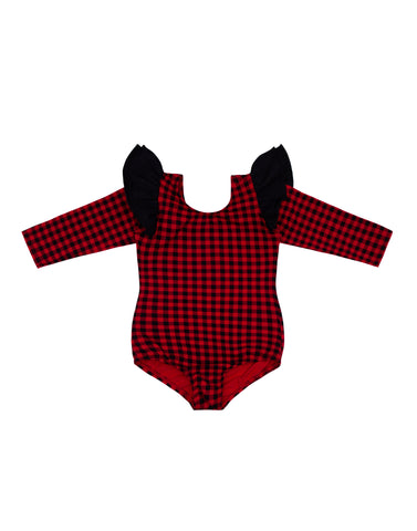 Red Check Long Sleeve Bodysuit