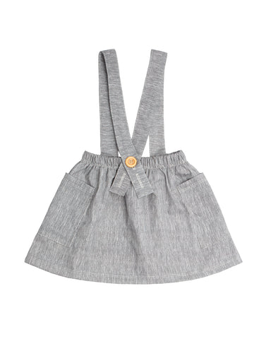Thin charcoal Suspender Skirt