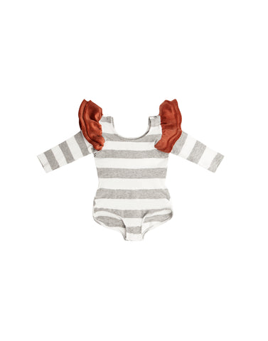 GiGi Grey Stripe Bodysuit