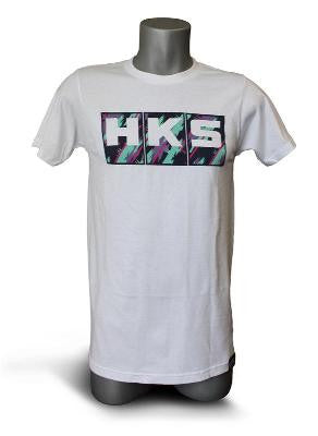 White HKS Splash Logo Tee Shirt