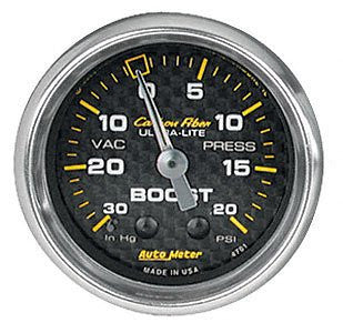 Autometer Carbon Fiber Mechanical Boost Gauge