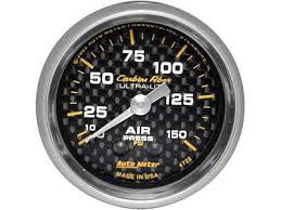 Autometer Carbon Fiber Mechanical Air Pressure Gauge